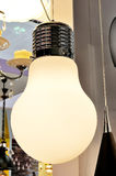Decorative lamp in the shape of a large light bulb.  royalty free stock photos