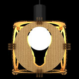 Decorative lamp symbolizing a light bulb. 3D illustration. Stock Photos