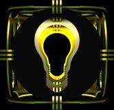 Decorative lamp symbolizing a light bulb. 3D illustration. Royalty Free Stock Photography