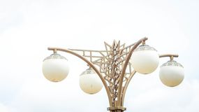 Decorative lamppost. Decorative and artistic lamppost isolated on sky Royalty Free Stock Photos