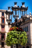 Decorative Lamppost in Barcelona Royalty Free Stock Image