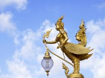 Decorative lamps at thai temple. Stock Image