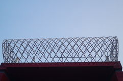 Decorative landscape of barbed wire cage Royalty Free Stock Photography
