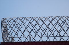 Decorative landscape of barbed wire cage Royalty Free Stock Images