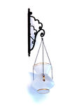 Decorative Lantern. Decorative glass lantern, indoor, isolated, white background Royalty Free Stock Photo