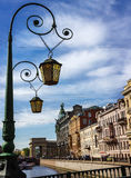 Decorative lantern in the historical part of St.-Petersburg. Stock Photo