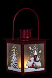 Decorative lantern in the style of the Christmas holidays Royalty Free Stock Image