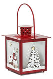 Decorative lantern in the style of the Christmas holidays Stock Photos
