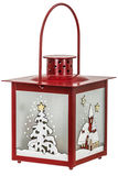 Decorative lantern in the style of the Christmas holidays Royalty Free Stock Photography