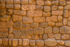 Decorative laterite stone wall surface Stock Image
