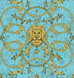 Decorative lattice with a lion in classic style Stock Image