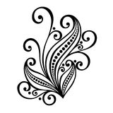 Decorative Leaf with Ornament Stock Images