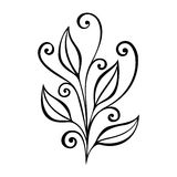 Decorative Leaf with Ornament Stock Image