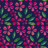 Decorative leave and flower design element. Royalty Free Stock Photography