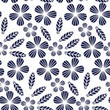 Decorative leave and flower design element. Royalty Free Stock Photos