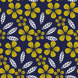 Decorative leave and flower design element. Stock Images