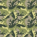 Decorative leaves against a military style. Decorative leaves in a military style. Vector seamless background Stock Images