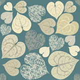 Decorative leaves seamless pattern Royalty Free Stock Image