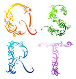 Decorative letter font type royalty free stock images