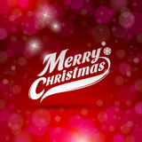 Decorative lettering - Merry Christmas Stock Photo