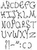 Decorative letters Stock Photos