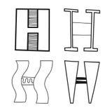 Decorative letters of the alphabet. Lettering for design, scrapbooking, digital stamps. Vector. Illustration vector illustration