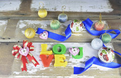 Decorative letters forming word LOVE Royalty Free Stock Photo
