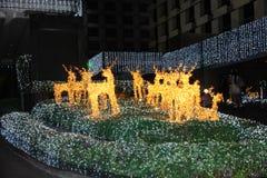 Decorative lighting. Decorative lighting in the festive season Stock Photo