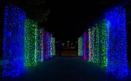 Decorative lighting in merry cristmas Royalty Free Stock Images