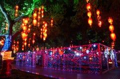 Decorative lighting on street Stock Photo