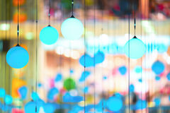 Decorative lights. Hanging from the ceiling Stock Image