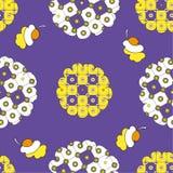 Decorative lilac ornament Stock Images