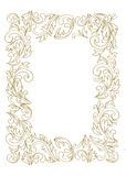 Decorative line art frame for design template. Royalty Free Stock Photo