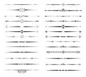 Decorative Line Set Stock Image