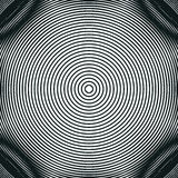 Decorative lined hypnotic contrast background. Optical illusion,. Creative black and white graphic moire backdrop Stock Photos