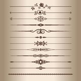Decorative lines Royalty Free Stock Photo