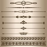 Decorative lines. Royalty Free Stock Images