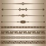 Decorative lines. Royalty Free Stock Photo