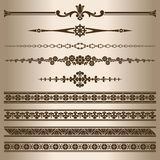 Decorative lines. Royalty Free Stock Photos