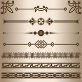Decorative lines. Stock Photos