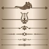 Decorative lines. Royalty Free Stock Photos