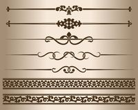 Decorative lines and ornaments. stock illustration