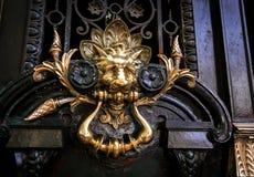 Decorative lion door handle Royalty Free Stock Image