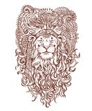 Decorative lion-hippy vector  illustration. Stock Photo