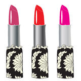 Decorative lipsticks Stock Image
