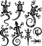 Decorative lizards. A set of decorative lizards Royalty Free Stock Image