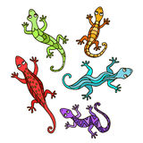 Decorative lizards Royalty Free Stock Images