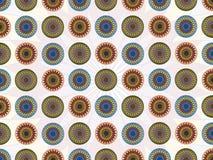Decorative lotus motive pattern. Pattern with lotos flower in geometrical striktly order Royalty Free Stock Image