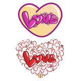 Decorative love background Royalty Free Stock Photography