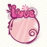 Decorative love background Royalty Free Stock Images